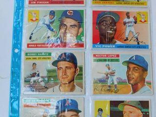 KC Athletics Baseball Cards  8 ea