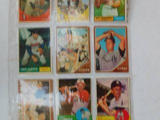 KC Athletics Baseball Cards  9 ea