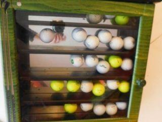 Golf Ball Display with 25 Balls