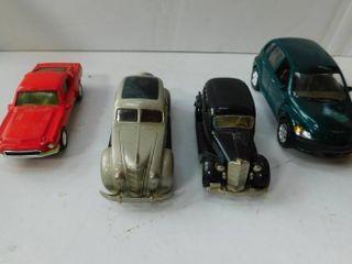 Vintage Model Cars  4 ea