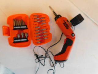 Black   Decker Quick Drill and Bits Set