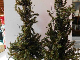 Pair of Christmas Trees