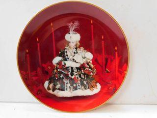 Christmas Doll Plate