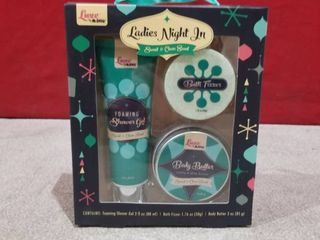 ladies Night In Shower Gel Body Butter Bath Fizzer Sweet   Clean Scent luxe