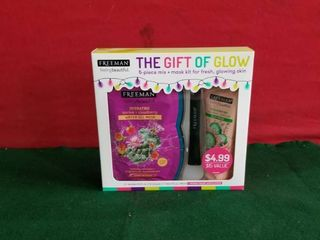 Freeman The Gift Of Glow 5 Piece leave On Gel   Clay Mask   Applicator Gift Set