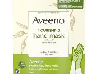 Aveeno Moisturizing Hand Therapy Mask with Oat  6 Pairs of Gloves