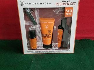 Van Der Hagen Shave Regimen Gift Set 4 Piece luxury Shave Set W  Clippers