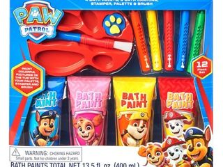 PAW Patrol 12 Piece Bath Time Paint and Crayon Activity Set