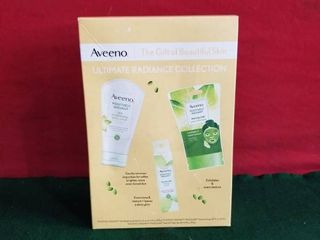 Aveeno Ultimate Radiance Collection Skincare Gift Set With Scrub Mask  infusions