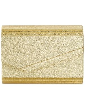 Inc Maria Envelope Glitter Clutch Retail   39 99