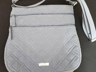 Vera Bradley Gray Messenger Bag Retail   129 99