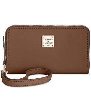 Dooney   Bourke Beacon Zip Around Wristlet Retail   39 99