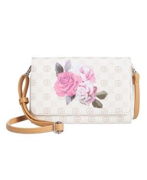 Giani Bernini Signature Rose Crossbody Wallet Retail   69 99