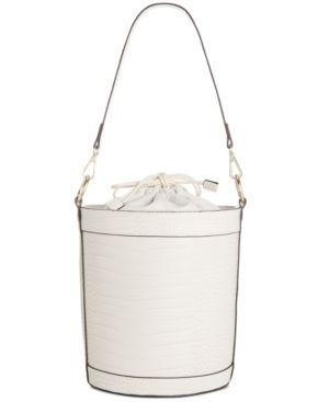 Inc Ajae Croco Embossed Bucket Bag Retail   44 99