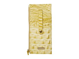 Brahmin Credit Card Melbourne Embossed leather Wallet Retail   89 99