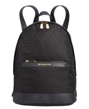 Michael Kors Morgan Medium Nylon Backpack In Black Retail  298 00