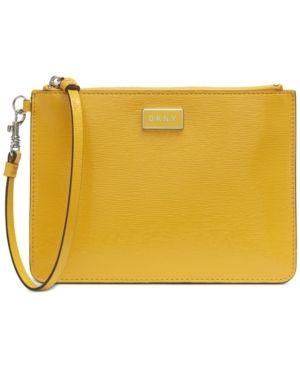 Dkny Gigi leather Wristlet Retail   39 99