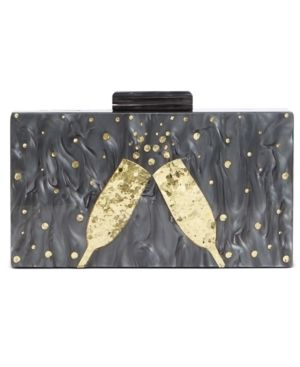 Inc Champagne Flutes Box Clutch Retail   39 99