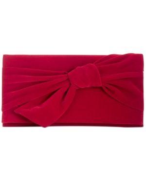 Inc Bowah Hands Through Velvet Clutch Retail   59 99