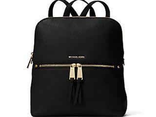 Michael Kors Rhea Medium Black Slim Fashion Backpack Retail   269 99