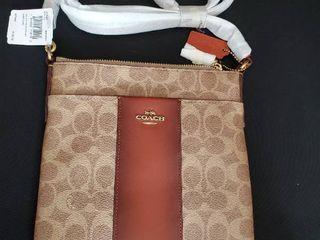 Coach Tan Rust Messenger Bag Retail   249 99
