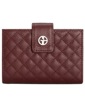 Giani Bernini Quilted leather Framed Indexer Wallet Retail   34 99