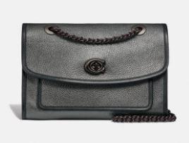 Coach Pebbled SOFT Parker Shoulder Bag in Signature leather Retail   369 99