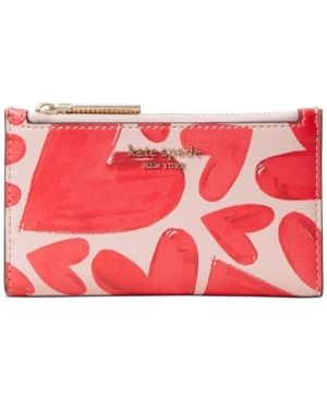 Women s Kate Spade New York Small Spencer Ever Fallen Slim Bifold Wallet   Pink Retail   199 99