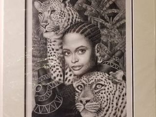 The leopard lady By Albert Mukasa Wilson 1998 With Certificate of Authenticity  95 450  In Plastic Sleeve