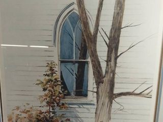 Art By Jack O Hara Signed Print Artist Proof  AP  lithograph Window White House Tree Artworkq