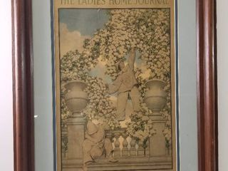The ladies  Home Journal Cover  July 1912  Philadelphia  Painted by Maxfield Parrish  Framed