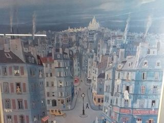 Art Work By Michel Delavois Picture Of Hotel s  Restaurants And People Walking By In Paris