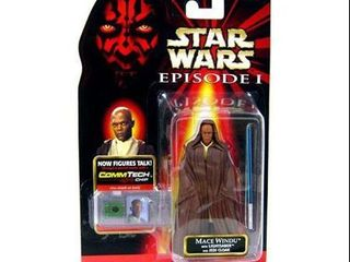 Star Wars The Phantom Menace Episode I Basic 1999 Mace Windu 3 75  Action Figure