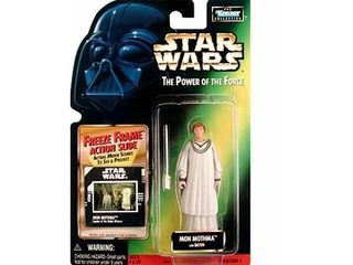 Star Wars  Power of the Force Freeze Frame Mon Mothma Action Figure