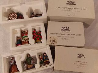 Dept 56 The Heritage Village Collection Christmas Figurines Handpainted Porecelain Accessories