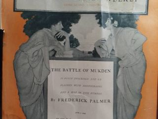 Art Work By Frederick Palmer  The Battle Of Mukden   Magazine Cover