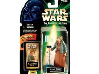 Star Wars Power of the Force POTF2 Flashback Aunt Beru with Service Droid Action Figure