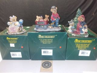lot of 3 Boyds Bears and Friends Bearstone Collection