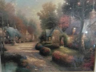 Thomas Kinkade Cobblestone Evening 1