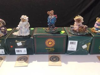 lot of 5 Boyds Bears and Friends Bearstone Collection