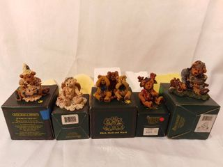 lot of 5 Boyds Bears and Friends from the Bearstone Collection Figurines