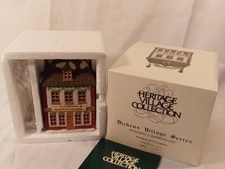 Dept 56 The Heritage Village Collection Dickens Village Series Fezziwigs Warehouse Handpainted Porcelain light Up House