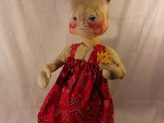 Handmade Handpainted Easter Bunny Annalee Doll 30 Inches Tall