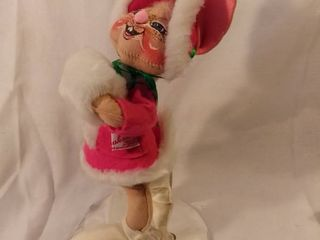Handmade Handpainted Ice Skating Bunny Annalee Doll Society 1991 12 Inches Tall