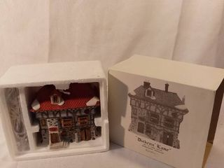 Dept 56 The Heritage Village Collection Dickens Village Series Turtles Pub and lodge Handpainted Porcelain lights Up