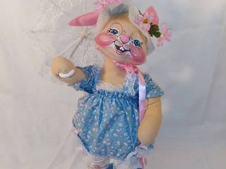 Annalee Doll Society 1988 Bunny Doll with Parasol