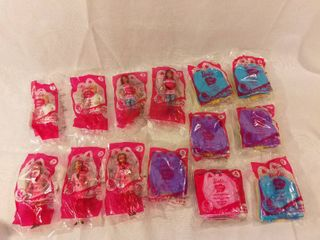 lot of 14 Mcdonald s Happy Meal Toys Barbie I Can Be Series 2012