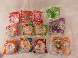 lot of 12 Mcdonald s Happy Meal Toys Anamaniacs 1994 Bright Beats 2006 Build a bear 2007