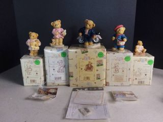 lot of 5 Cherished Teddies Club Figurines