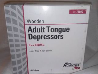 Pro Advantage Adult Tongue Depressors  Wooden  500 box